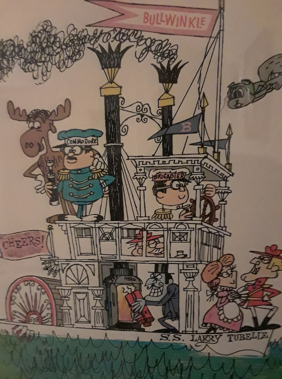Larry Tubelle Bullwinkle painting